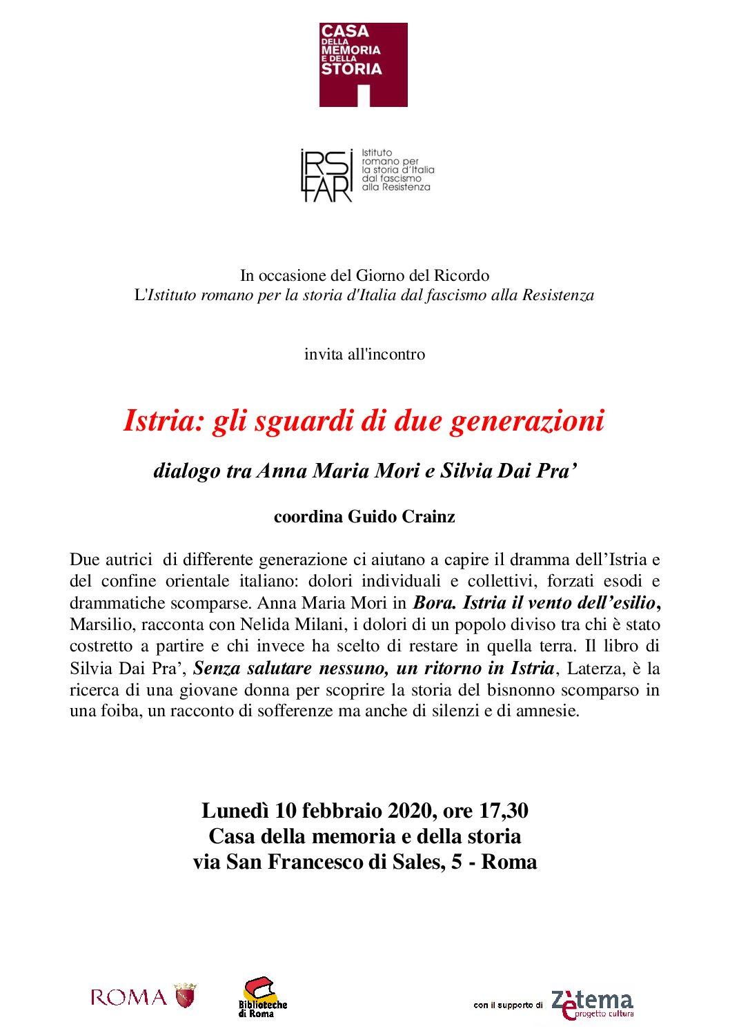 Istria: gli sguardi di due generazioni