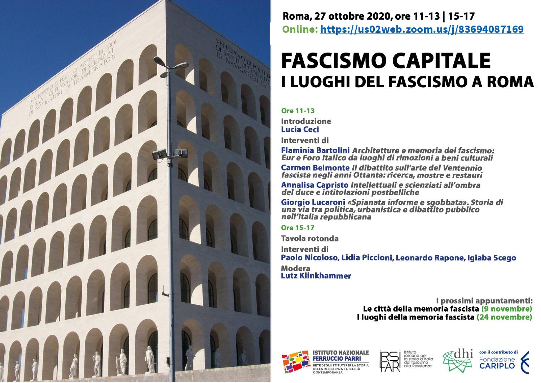Fascismo capitale. I luoghi del fascismo a Roma | Registrazione dell'incontro